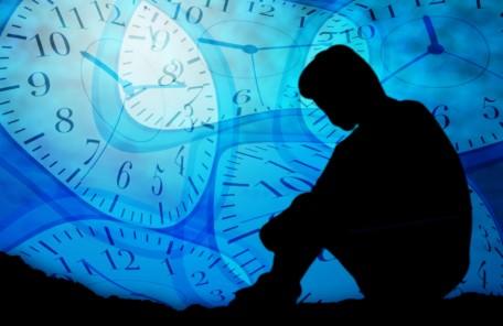 悩む、不安、悩み、ストレス、時間、制限